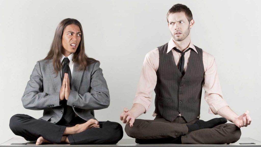 mindfulness og to skeptiske mediterende menn