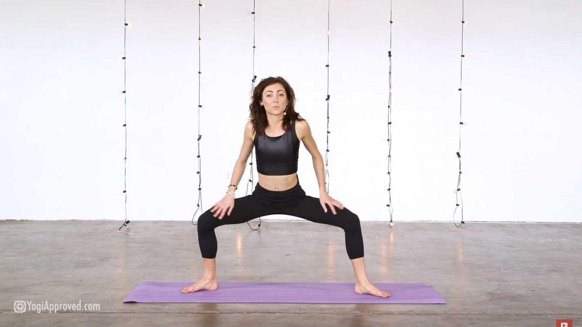 sexy kvinne gjør yoga for sex